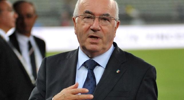 Tavecchio sugli stadi nuovi: C'è troppo cemento in Italia, serve ristrutturare quelli che abbiamo