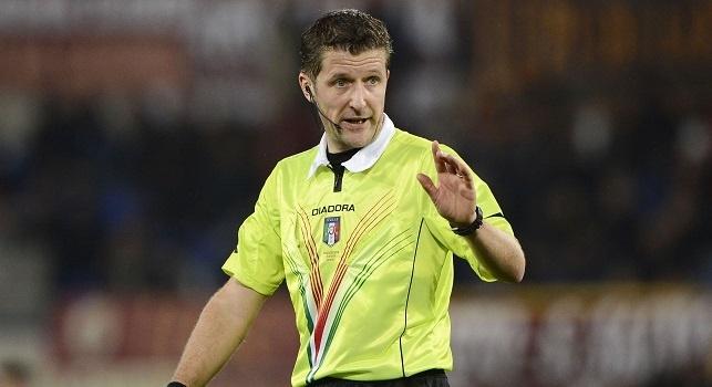UFFICIALE - Napoli-Juventus, arbitra Orsato: Rocchi e Damato gli addizionali