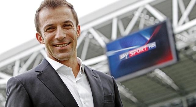 Alessandro Del Piero, ex Juve, commentatore Sky Sport