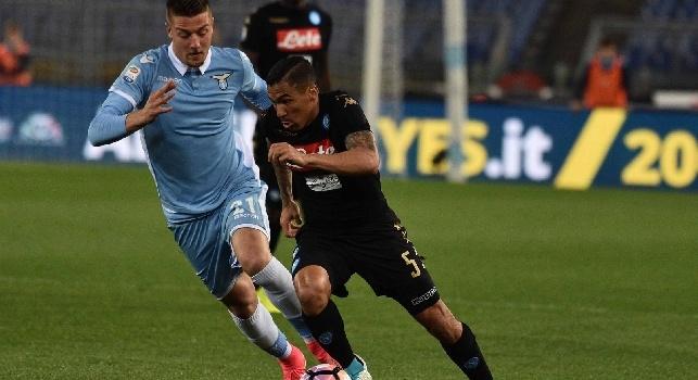 Allan, l'agente: Vedere il Napoli giocare è uno spettacolo, ma non sarà facile acciuffare la Roma. Allan da grande squadra!