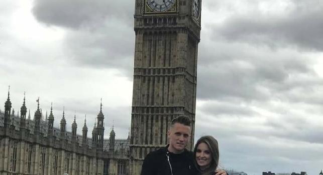 Zielinski e la pasqua londinese...con il cattivo tempo! [FOTO]