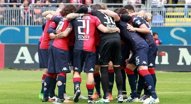 Cagliari, salvezza raggiunta grazie alla vittoria col Pescara: stamattina defaticamento in vista del Napoli