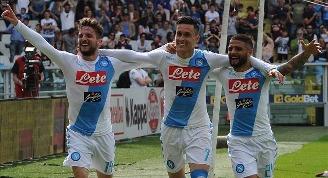 Napoli show, è un tridente da record: dimenticato Higuain, è una stagione da sogno