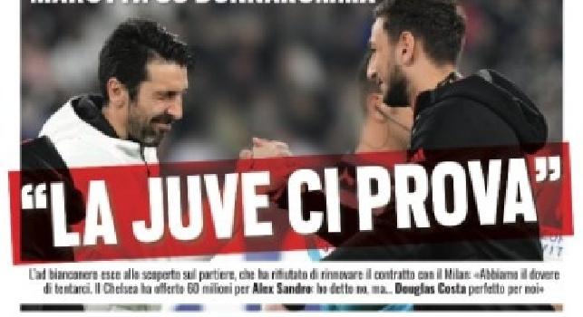 La prima pagina di Tuttosport: Marotta su Donnarumma: La Juve ci prova [FOTO]