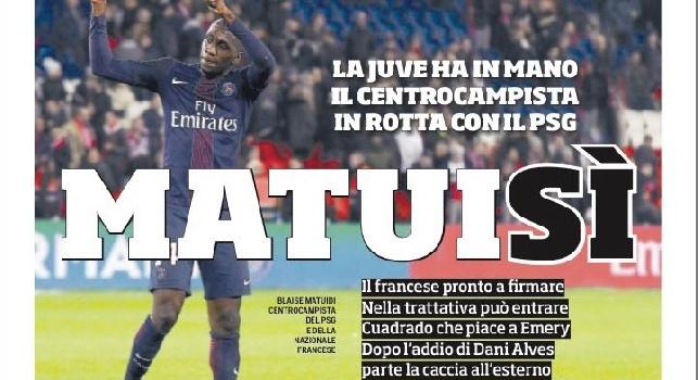 Prima pagina Corriere dello Sport: Matuisì, la Juve ha in mano il centrocampista del Psg [FOTO]