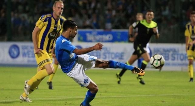 Adam Ounas sigla il suo primo gol in maglia azzurra