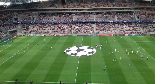 Nizza - Napoli, all'Allianz Riviera l'inno Champions prima dell'inizio: l'urlo dei tifosi francesi [VIDEO CN24]