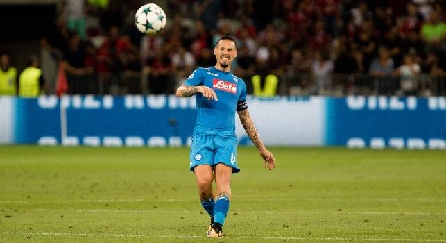 Napoli-Benevento, ancora maglia azzurra per gli uomini di Sarri [FOTO]