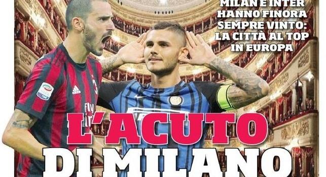 """Corriere dello Sport, la prima pagina: """"L'acuto di Milano"""" [FOTO]"""