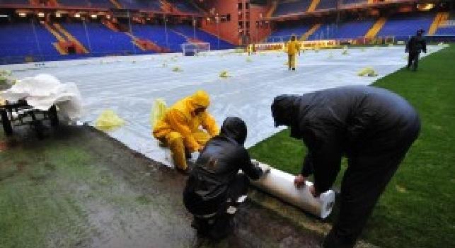 Allerta meteo su Genova: Sampdoria-Torino a rischio rinvio