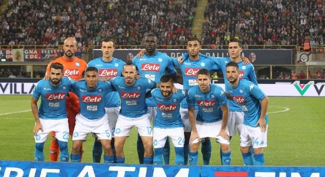 Bologna-Napoli, la squadra azzurra schierata