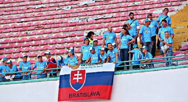 Da Bratislava a Napoli, per Marek Hamsik: i tifosi slovacchi affollano il San Paolo [FOTO]
