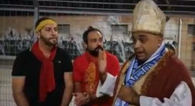 I tifosi beneventani disperati dopo il 6-0: gli appare San Gennaro! Simpatico sketch degli 'Ultimo Stadio' [VIDEO]