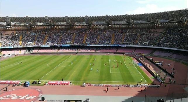 Stadio San Paolo in attesa di Napoli-Cagliari
