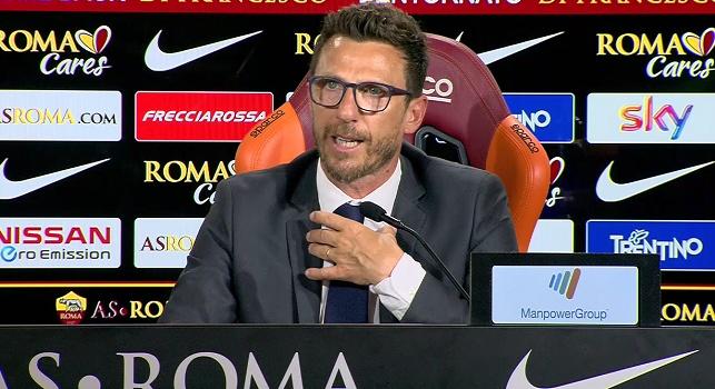 Roma, Di Francesco: Sono con Ancelotti, fermiamo le partite per affrontare i teppisti! Inutile fare mercato tanto per