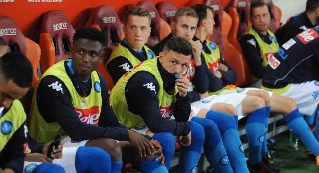 Amadou Diawara e Mario Rui in panchina con la SSC Napoli