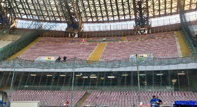 Napoli-Lazio, settore ospiti chiuso per motivi di ordine pubblico