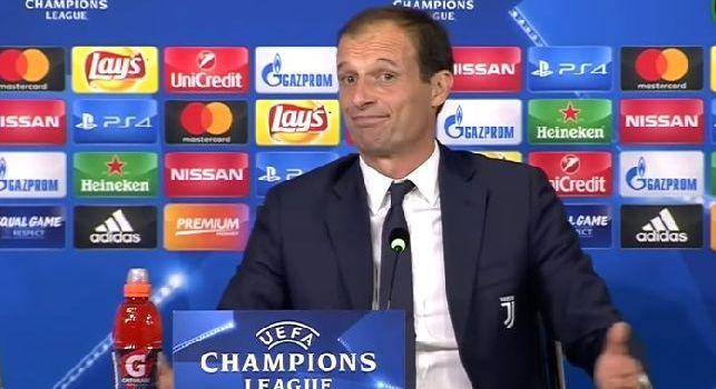 Massimiliano Allegri, allenatore della Juventus, in conferenza stampa