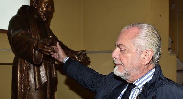 Napoli, De Laurentiis riceve il Premio Internazionale Padre Pio da Pietrelcina [FOTO]