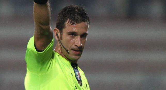 Napoli-Parma affidata all'arbitro Doveri: porta bene agli azzurri il fischietto romano