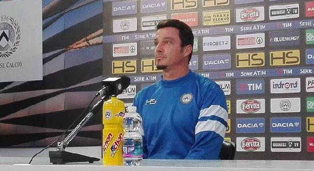 Udinese, Oddo: Mi aspetto il solito Napoli, concentrato e fortissimo: lotteranno ancora per lo scudetto. Non andremo al San Paolo già rassegnati