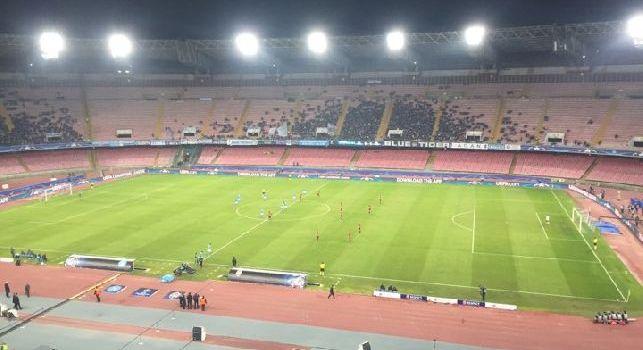 Stadio San Paolo in Champions League con pochissimi spettatori