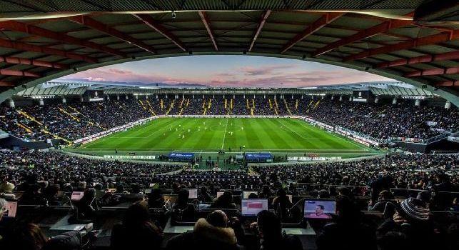 I tifosi dell'Udinese intonano Odio Napoli, i napoletani rispondono con fischi assordanti alla Dacia Arena [VIDEO]