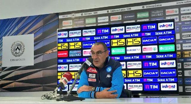 Sarri in mixed: La Juve è stata tenuta sotto come il Benevento, è merito nostro. Attaccanti poco brillanti, è un momento. Ounas? Ancora acerbo