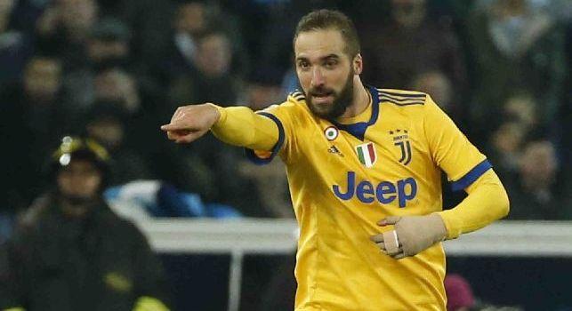 Juventus-Napoli, per gli scommettitori segna Higuain: la maggioranza vede i bianconeri vincenti