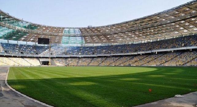 Lo stadio della Dinamo Kiev