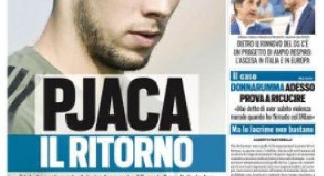 La prima pagina di Tuttosport: Pjaca il ritorno [FOTO]