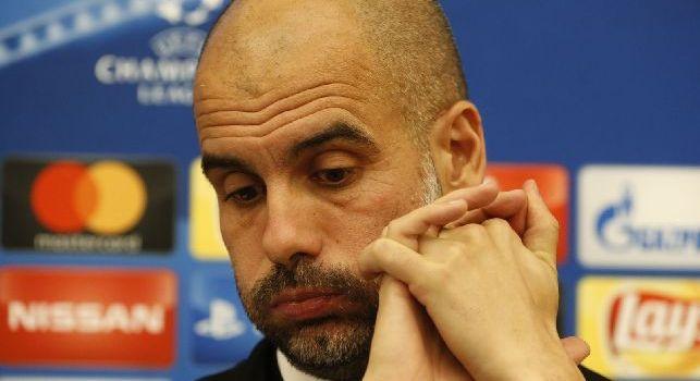 Pep Guardiola, allenatore del Manchester City, in conferenza stampa