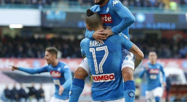 Esultanza Hamsik e Insigne in Napoli - Sampdoria