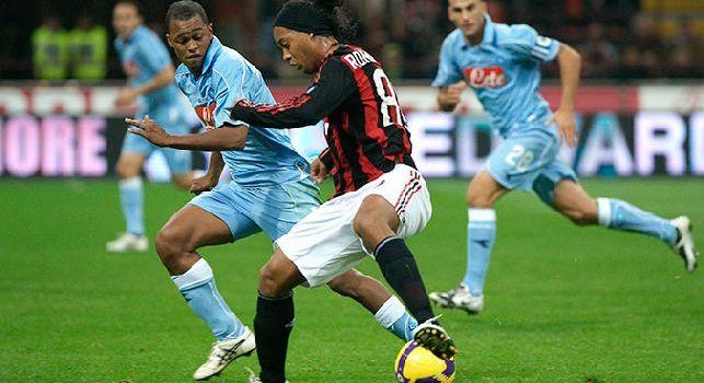 Fabiano Santacroce con la maglia del Napoli