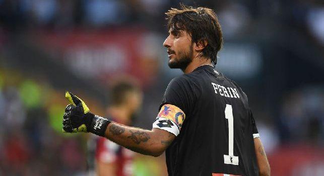 Mattia Perin in azione con la maglia del Genoa