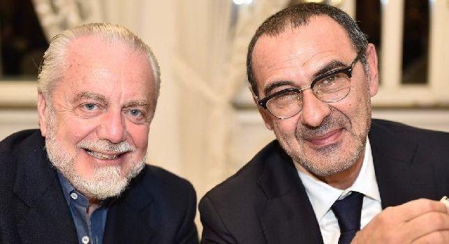 Aurelio De Laurentiis e Maurizio Sarri
