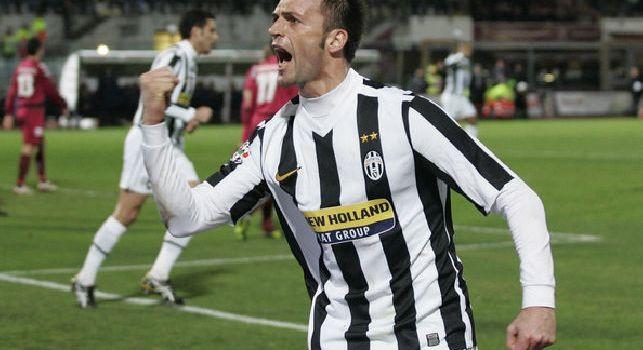 Legrottaglie esulta dopo un gol con la maglia della Juventus