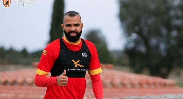 Sandro in allenamento al Benevento