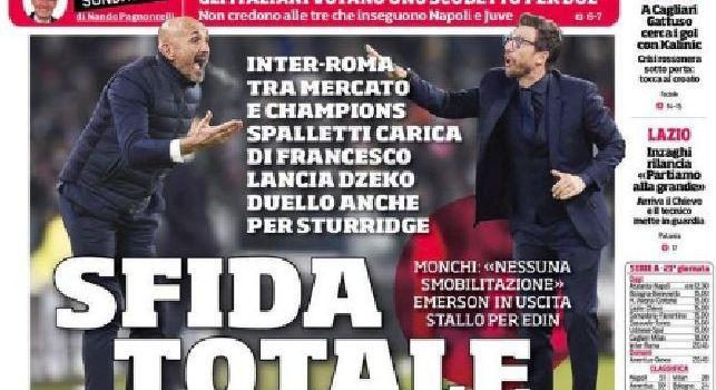 Prima Pagina Corriere dello Sport: Il Napoli prova la fuga, Hamsik ancora in dubbio [FOTO]