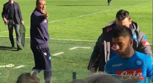 Maurizio Sarri e Lorenzo Insigne in Atalanta - Napoli
