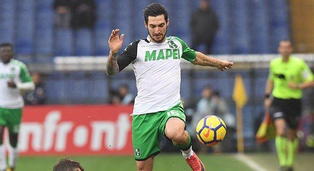 Matteo Politano con la maglia del Sassuolo
