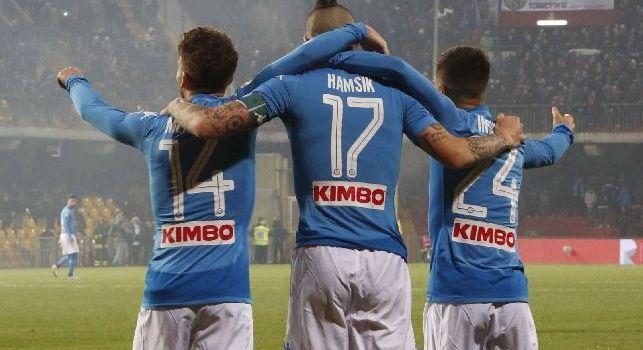 Opta - Quartetto azzurro: Hamsik, Callejon, Mertens e Insigne tutti a segno, è la seconda volta!
