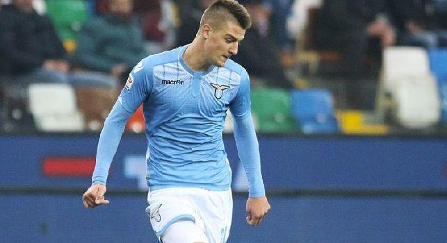 Milinkovic-Savic con la maglia della Lazio