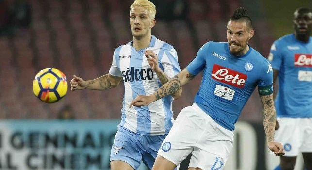 Hamsik contro la Lazio