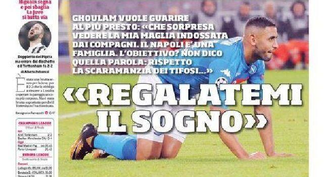 Prima pagina Corriere dello Sport: Ghoulam: 'Regalatemi il sogno. Che sorpresa la mia maglia...' [FOTO]