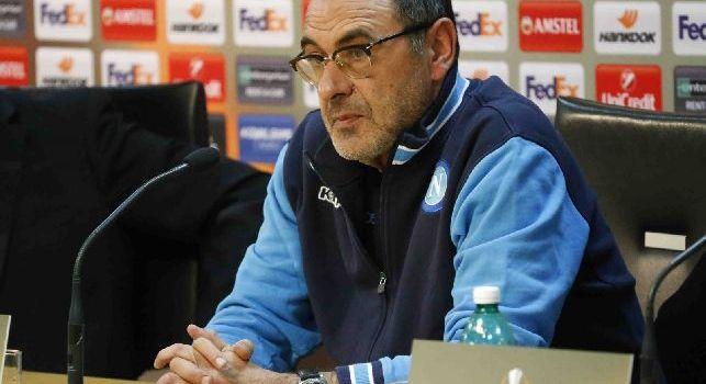 Maurizio Sarri in conferenza stampa (Europa League)
