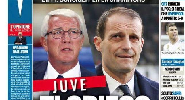Prima Pagina TuttoSport: Il solito Sarri: 'Coppa folle!' Gattuso: 'No, è un onore'. Le mosse di Mazzarri per vincere il derby contro la Juve [FOTO]