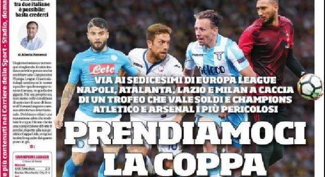 Prima Pagina Corriere dello Sport: Ottavio Bianchi: 'Così Napoli mi stregò: ho ancora in testa i cori del San Paolo' [FOTO]