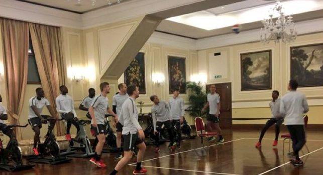 Risveglio muscolare per il Lipsia, scelta insolita: allenamento in hotel per i tedeschi! [FOTO]