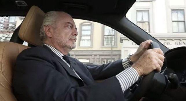 Aurelio De Laurentiis auto di lusso